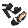 Sandale à talon massif bata, Noir, 769-6541 - 26