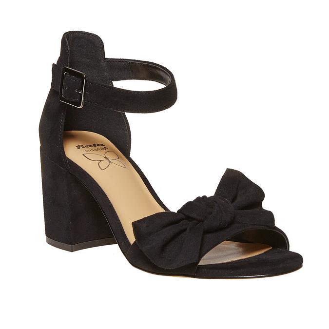 Sandale à talon avec nœud insolia, Noir, 769-6253 - 13