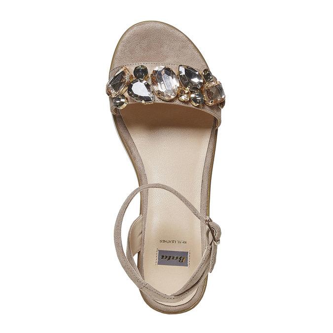 Sandale femme à grosses pierres bata, Gris, 669-2234 - 19