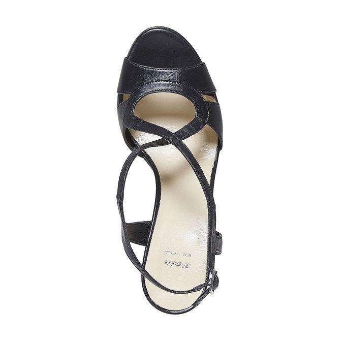 Sandale en cuir femme bata, Noir, 764-6587 - 19