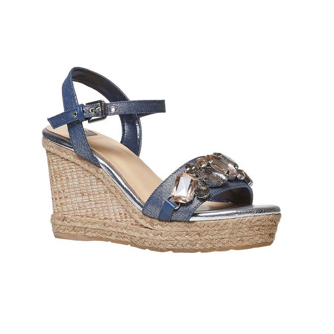 Sandale femme avec pierres bata, Violet, 769-9575 - 13