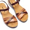 Sandale en cuir pour femme weinbrenner, Brun, 564-4254 - 26