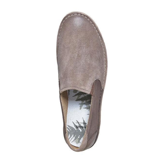 Slip-on en cuir pour homme bata, Brun, 853-4241 - 19