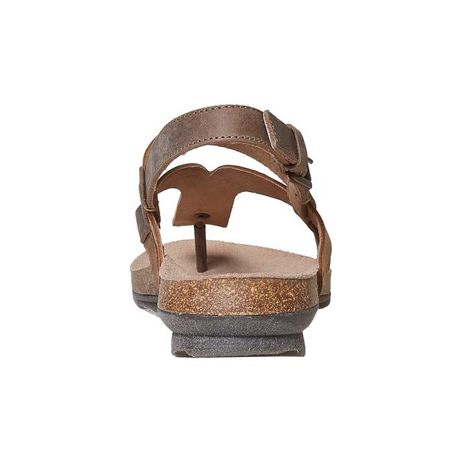 Sandale en cuir femme weinbrenner, Brun, 566-4449 - 17