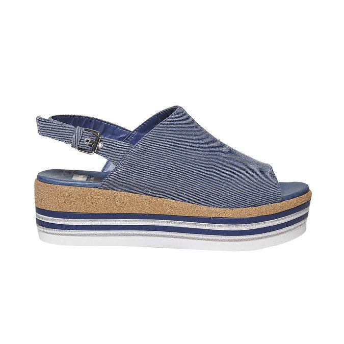 Sandale en jean à plateforme bata, Violet, 669-9241 - 15