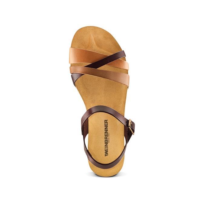 Sandale en cuir pour femme weinbrenner, Brun, 564-4254 - 17