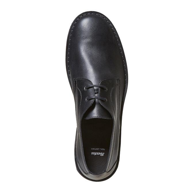 Chaussure lacée en cuir pour homme bata, Noir, 854-6111 - 19