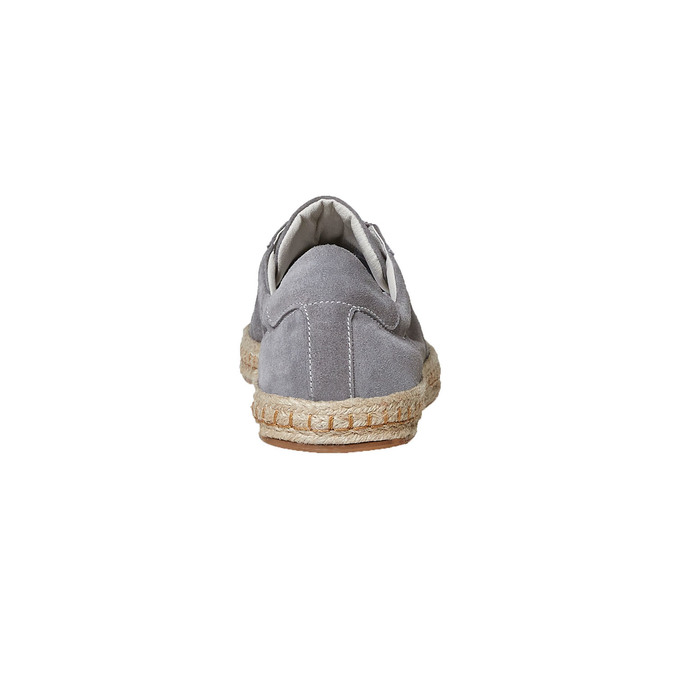 Basket en cuir avec semelle en jute bata, Gris, 853-2317 - 17