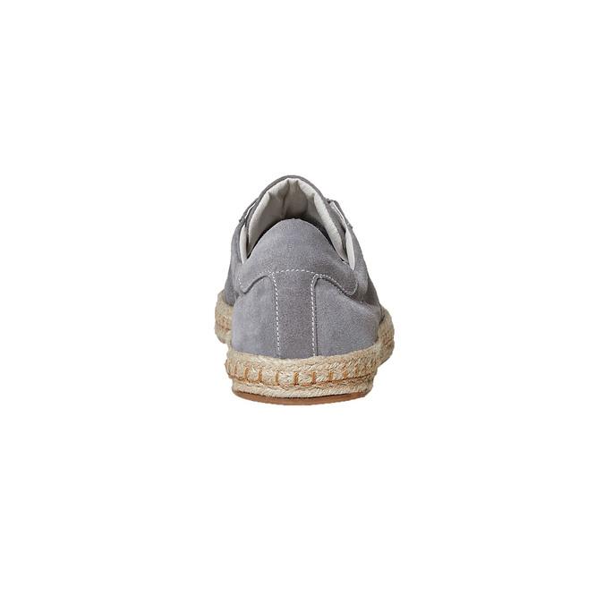 Basket en cuir avec semelle en jute bata, 853-2317 - 17