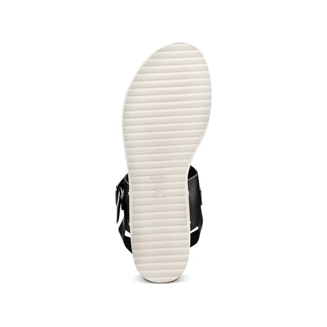 Sandale femme semelle épaisse bata, Noir, 561-6295 - 19