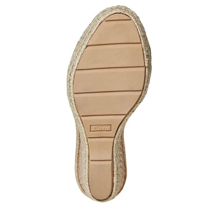 Sandale compensée femme à lacet bata, Gris, 769-2574 - 26