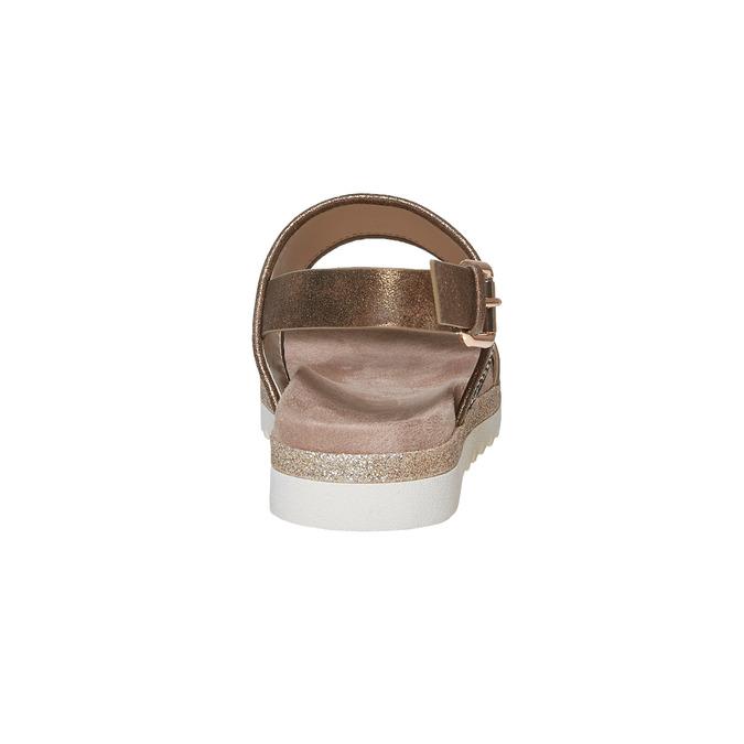 Sandale femme à semelle épaisse bata, Jaune, 569-8438 - 17