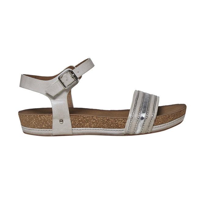 Sandale femme à semelle épaisse bata, Gris, 561-2404 - 15