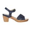 Sandale bleue à talon effet naturel bata-touch-me, Violet, 664-9231 - 15