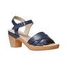 Sandale bleue à talon effet naturel bata-touch-me, Violet, 664-9231 - 13