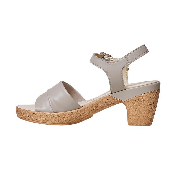 Sandale femme à talon effet naturel bata-touch-me, Gris, 664-2231 - 26