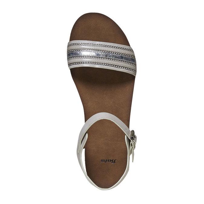 Sandale femme à semelle épaisse bata, Gris, 561-2404 - 19