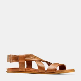 Sandale en cuir pour femme bata, Brun, 564-3443 - 13