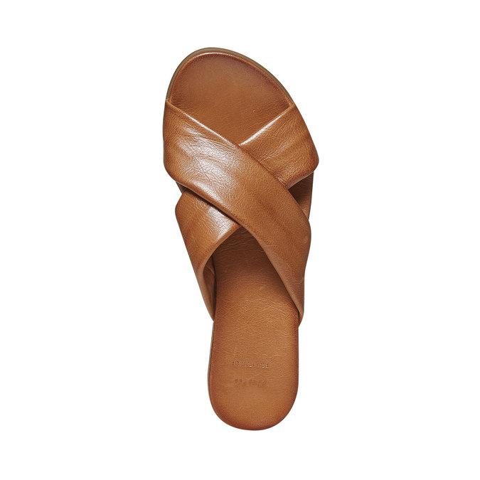 Nu-pied en cuir femme bata, Brun, 564-3444 - 19