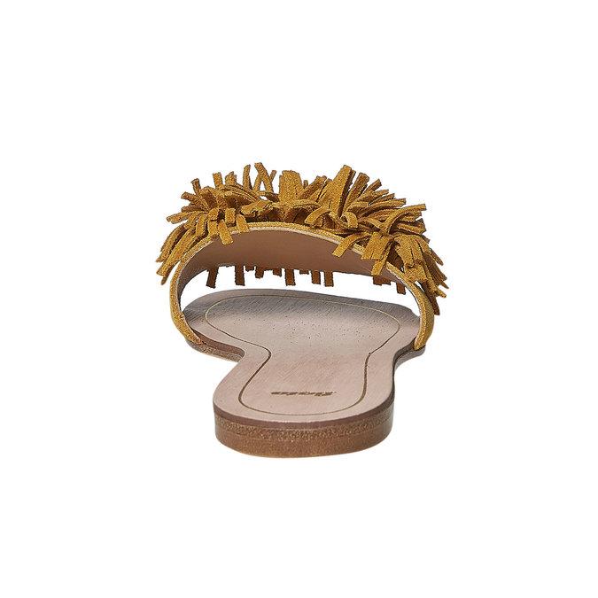 Mule en cuir femme bata, Jaune, 573-8354 - 17