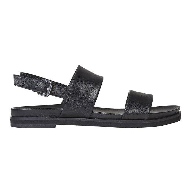 Sandale en cuir femme bata, Noir, 564-6446 - 15