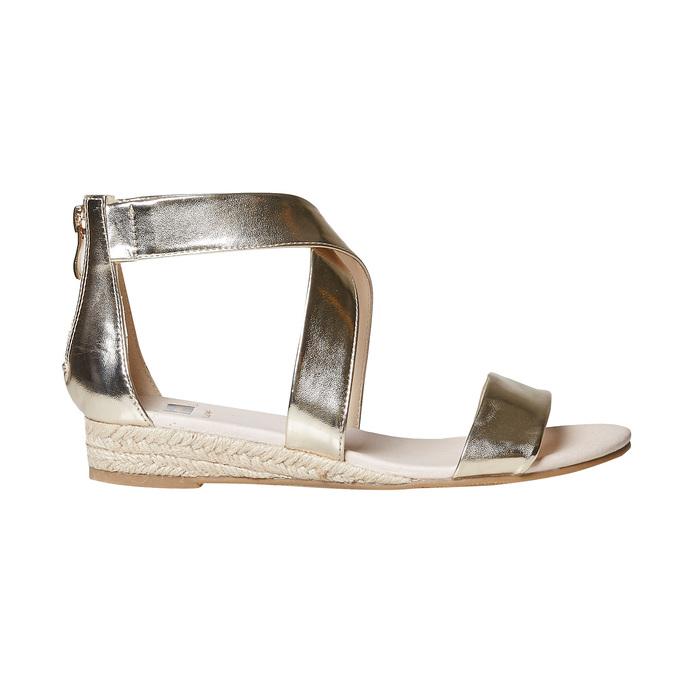 Sandale compensée femme couleur dorée bata, Jaune, 561-8505 - 15
