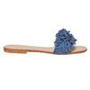 Mule à franges en cuir bleu bata, Violet, 573-9354 - 15