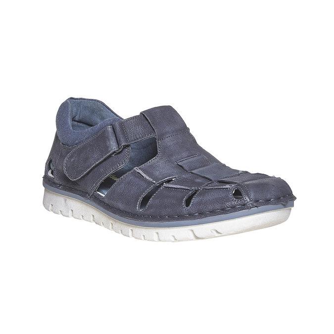 Sandale en cuir homme weinbrenner, Bleu, 864-9267 - 13