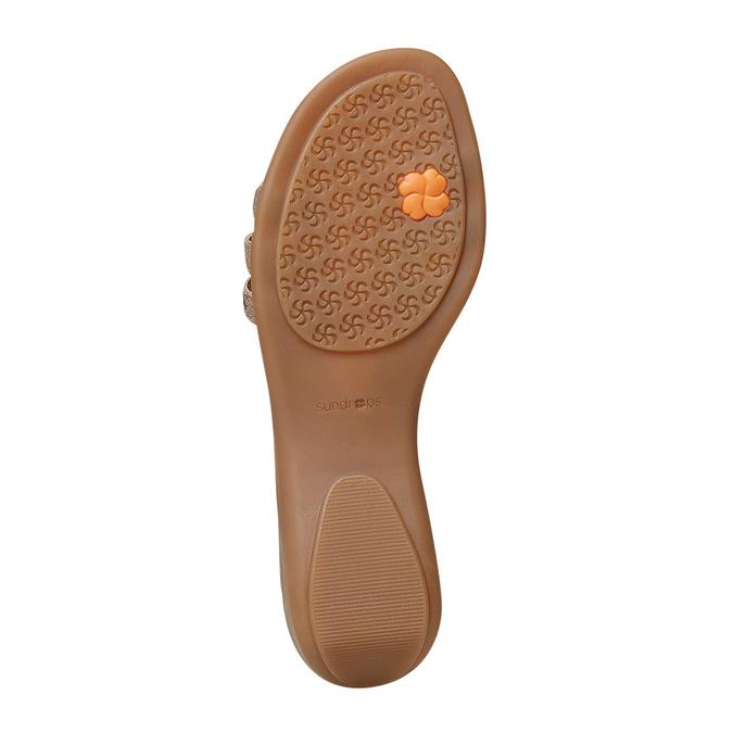 Sandale en cuir femme sundrops, Jaune, 564-8402 - 26