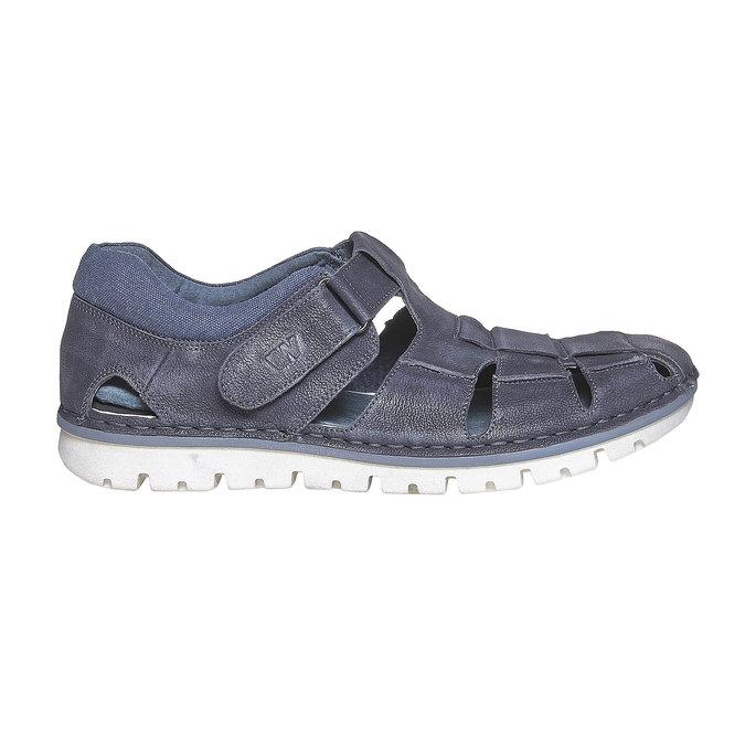 Sandale en cuir homme weinbrenner, Bleu, 864-9267 - 15