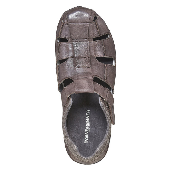 Sandale en cuir à semelle épaisse weinbrenner, Brun, 864-4267 - 19