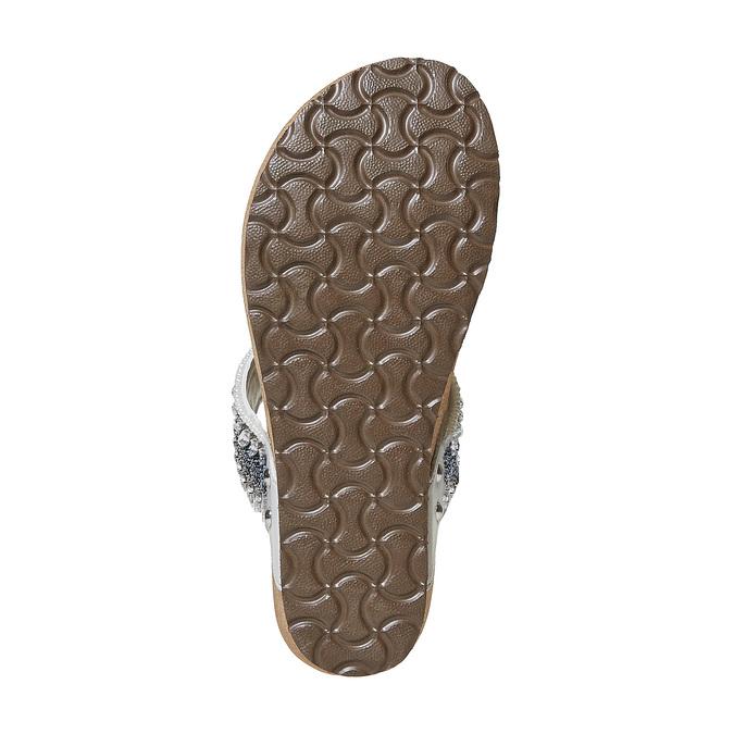 Tong femme avec petites pierres bata, Gris, 661-2277 - 26