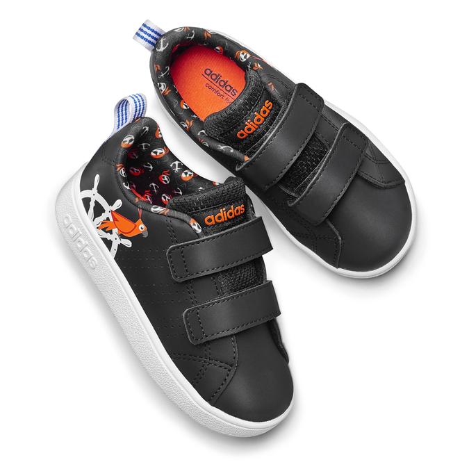 Basket imprimée enfant adidas, Noir, 101-6133 - 19