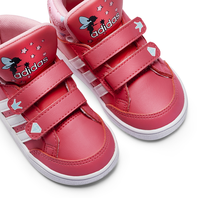 Basket montante fille adidas, Rouge, 101-5292 - 19