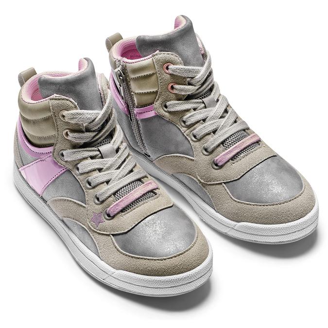 Childrens shoes mini-b, Gris, 321-2292 - 19