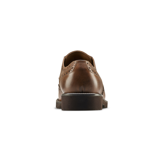 Derbies en cuir bata-light, Brun, 824-4399 - 16