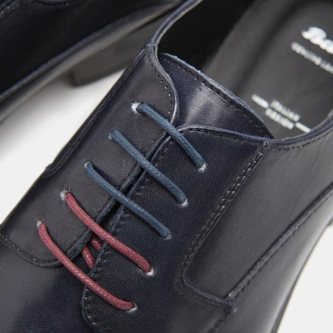 Chaussure lacée Derby en cuir bata, Bleu, 824-9874 - 16