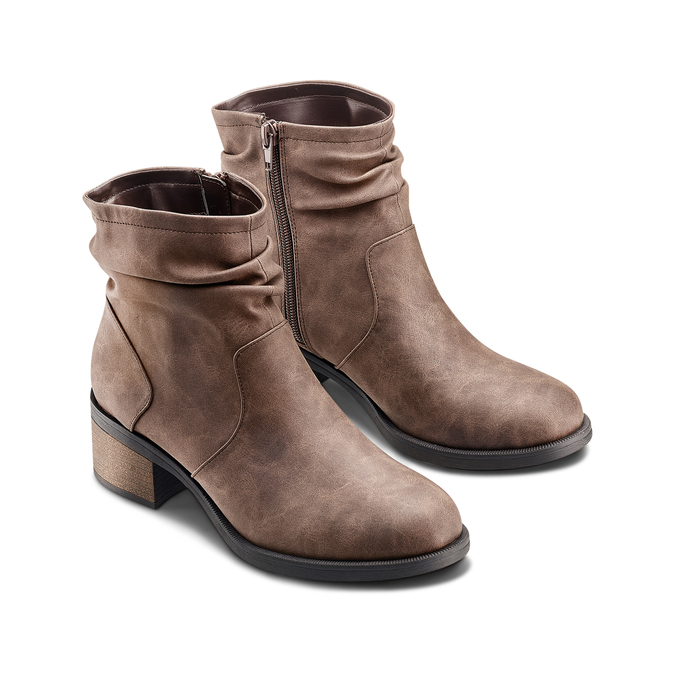 Women's shoes bata, Brun, 691-4408 - 16