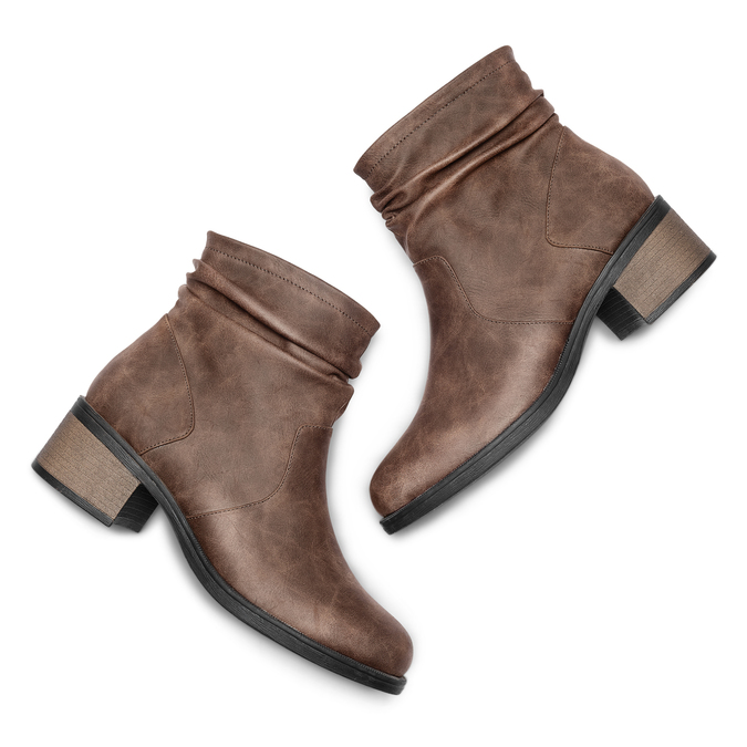 Women's shoes bata, Brun, 691-4408 - 26