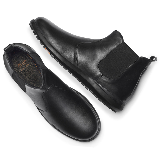 Men's shoes flexible, Noir, 844-6117 - 19