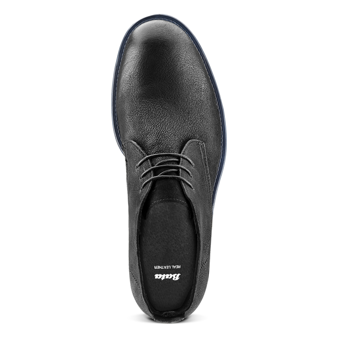 Chukka Boots en cuir pour homme bata, Noir, 894-6282 - 15