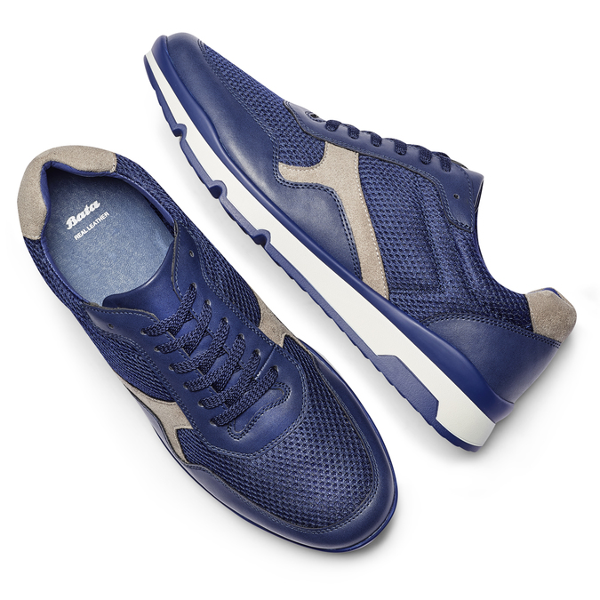 Men's shoes bata, Violet, 849-9145 - 19