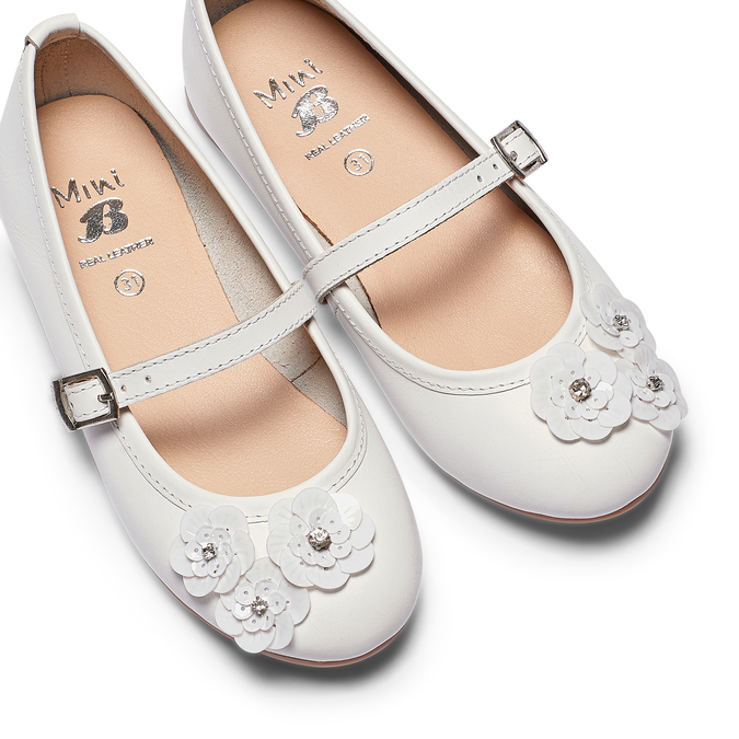 Childrens shoes mini-b, Blanc, 324-1253 - 26