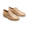 Chaussure lacée fantaisie en cuir pour femme bata, Jaune, 524-8482 - 16