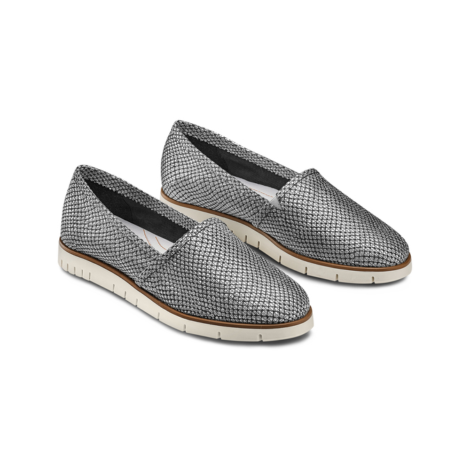Women's shoes flexible, Blanc, 515-1148 - 16