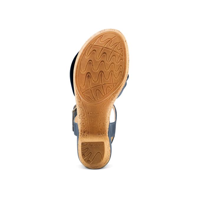 Women's shoes bata-touch-me, Bleu, 664-9302 - 19