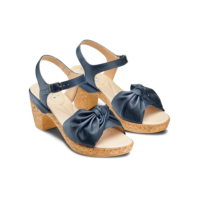 Women's shoes bata-touch-me, Bleu, 664-9302 - 16