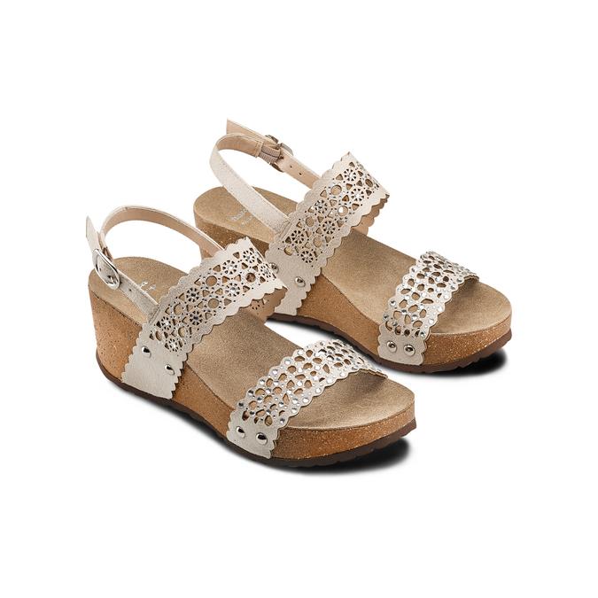 BATA Chaussures Femme bata, Jaune, 669-8356 - 16