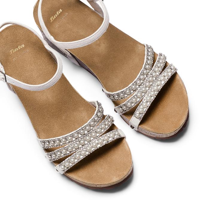 Women's shoes bata, Blanc, 669-1359 - 26