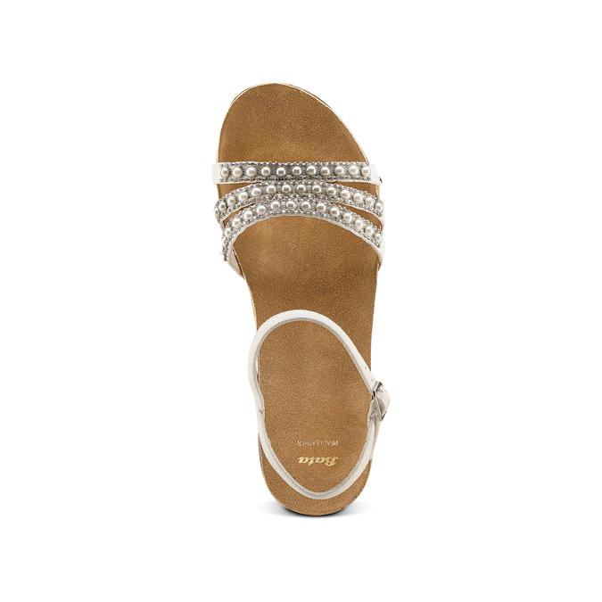 Women's shoes bata, Blanc, 669-1359 - 17